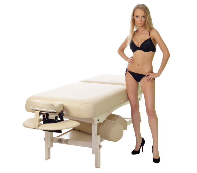 Стационарный массажный стол US MEDICA Olimp Vibromassage.ru